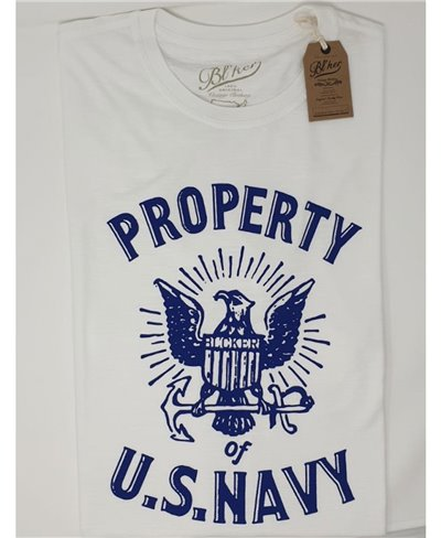 Property USN T-Shirt à Manches Courtes Homme White