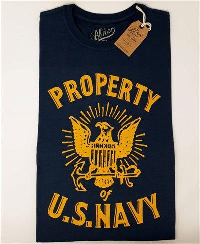 Herren Kurzarm T-Shirt Property USN Navy