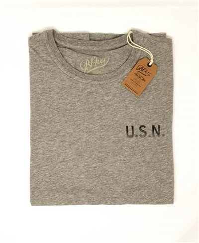 Herren Kurzarm T-Shirt USN Heather Grey