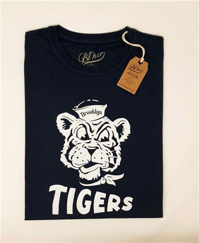 Herren Kurzarm T-Shirt Brooklyn Tiger Navy