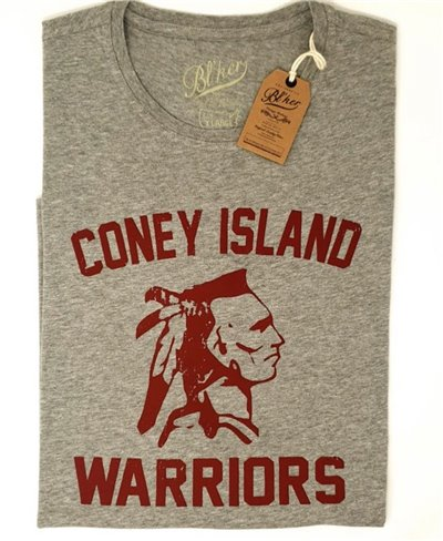 Herren Kurzarm T-Shirt Coney Island Heather Grey