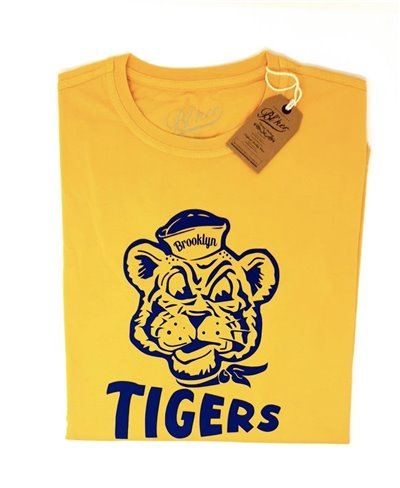Men's Short Sleeve T-Shirt Brooklyn Tiger Yellow