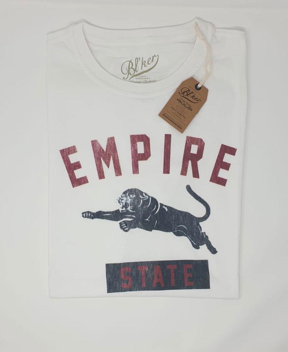 Herren Kurzarm T-Shirt Empire State White