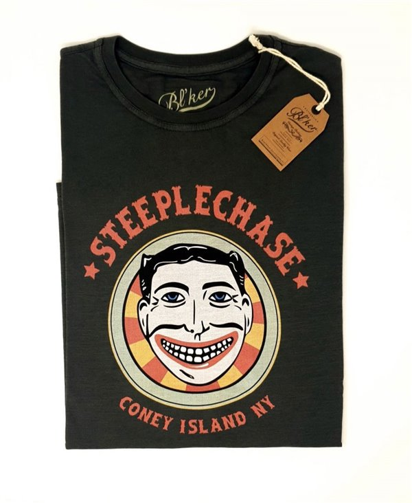 Herren Kurzarm T-Shirt Steeplechase Faded Black