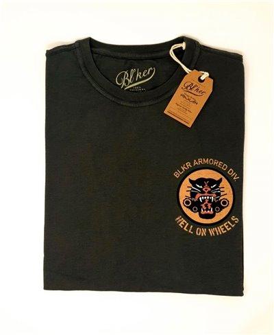 Hells on Wheels Camiseta Manga Corta para Hombre Faded Black