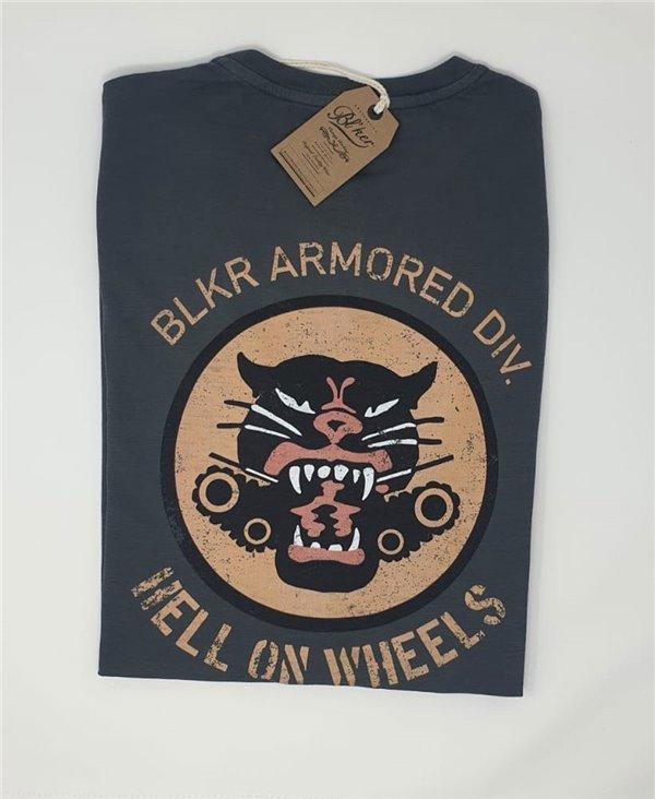 Men's Short Sleeve T-Shirt Hells on Wheels Faded Black