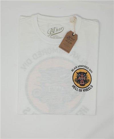 Herren Kurzarm T-Shirt Hells on Wheels White