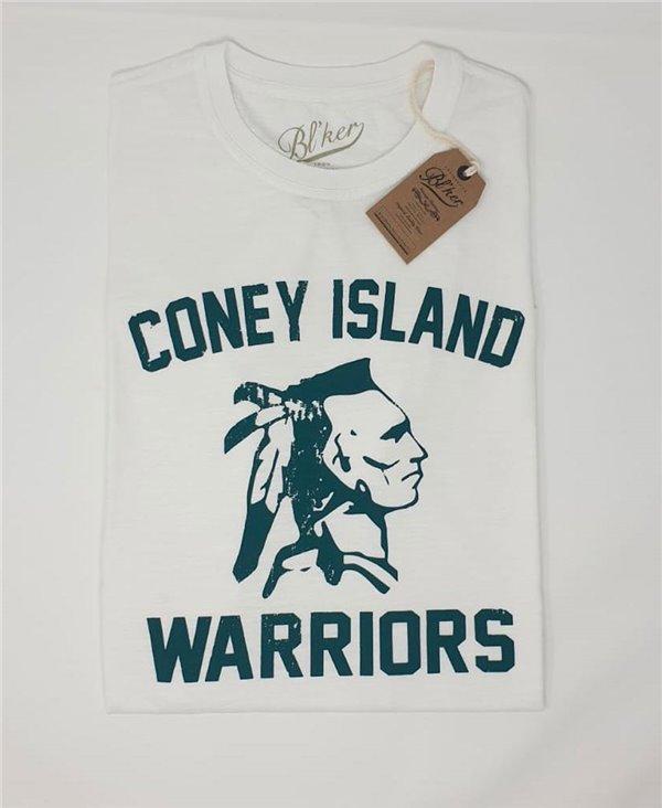 Herren Kurzarm T-Shirt Coney Island White