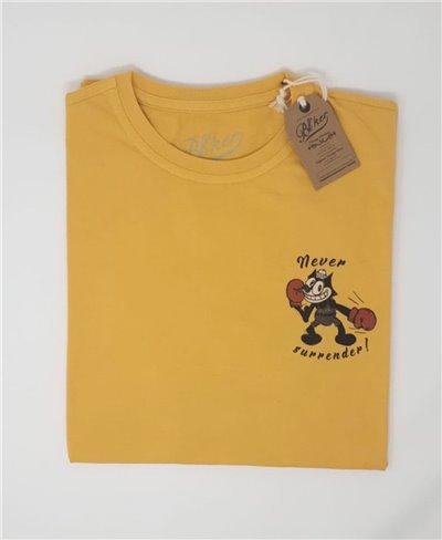 Felix T-Shirt à Manches Courtes Homme Yellow