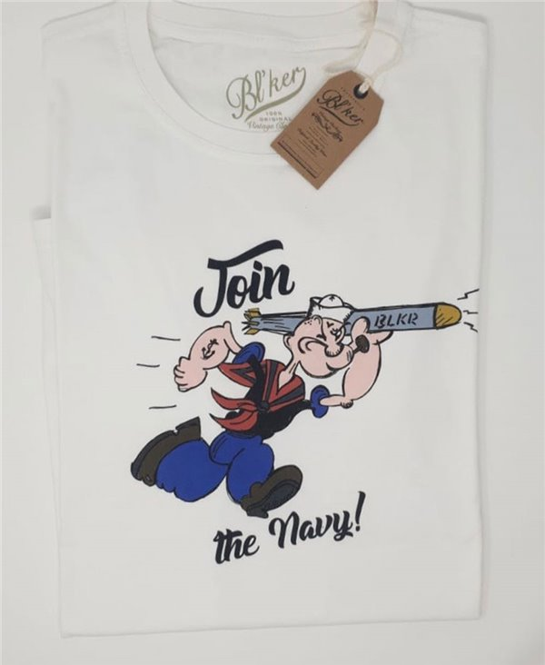 Popeye T-Shirt à Manches Courtes Homme White