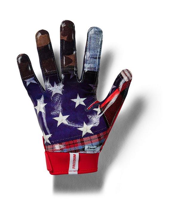 UA Spotlight LE Herren American Football Handschuhe Red