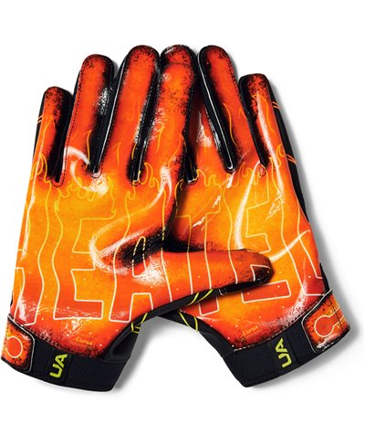 UA F7 Novelty Herren American Football Handschuhe Black