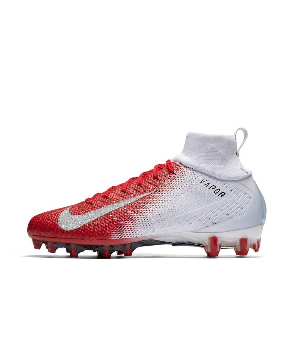 64f958c6d8ef9 Nike - American Football Cleats for men, model Vapor Untouchable 3 Pro,  colour White/University Red/Light Crimson/Metallic Silver