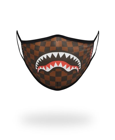 Sharks In Paris Mascarilla de Tela Lavable Brown
