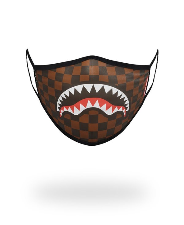Washable Fabric Face Mask Sharks In Paris Brown
