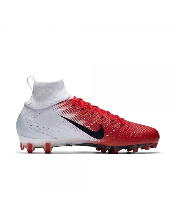 buy online 51695 e9e14 Nike - Crampons de Football Américain pour homme, modele Vapor Untouchable  3 Pro, couleur White University Red Light Crimson Metallic Silver