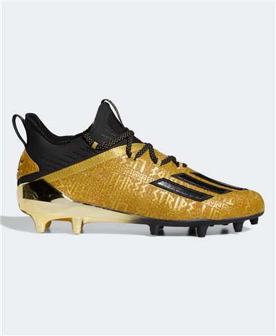 Herren Adizero New Reign American Football Shuhe Gold Metallic