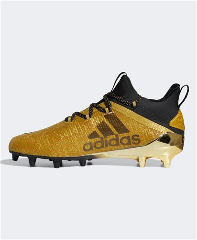 Men's Adizero New Reign American Football Cleats Gold Metallic
