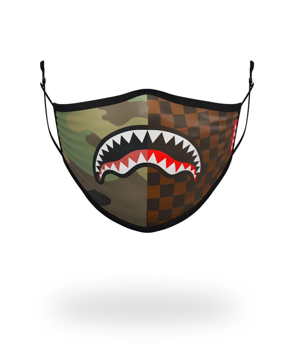 Waschbare Maske Checks & Camo