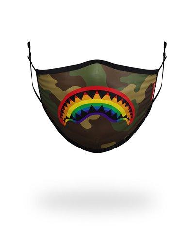 Rainbow Shark Masque en Tissu lavable