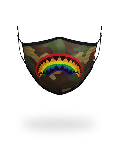 Washable Fabric Face Mask Rainbow Shark