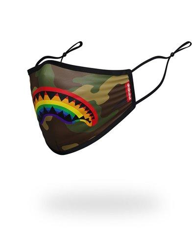 Rainbow Shark Mascherina in Tessuto Lavabile