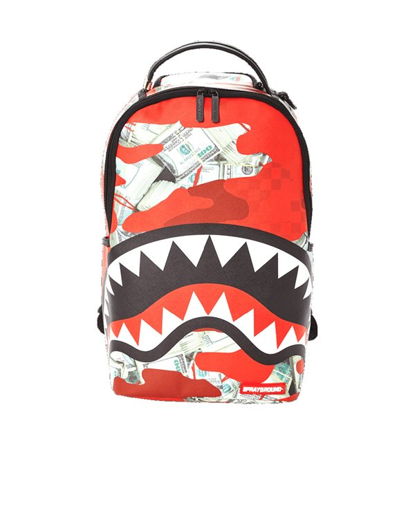Money Camo Backpack Red