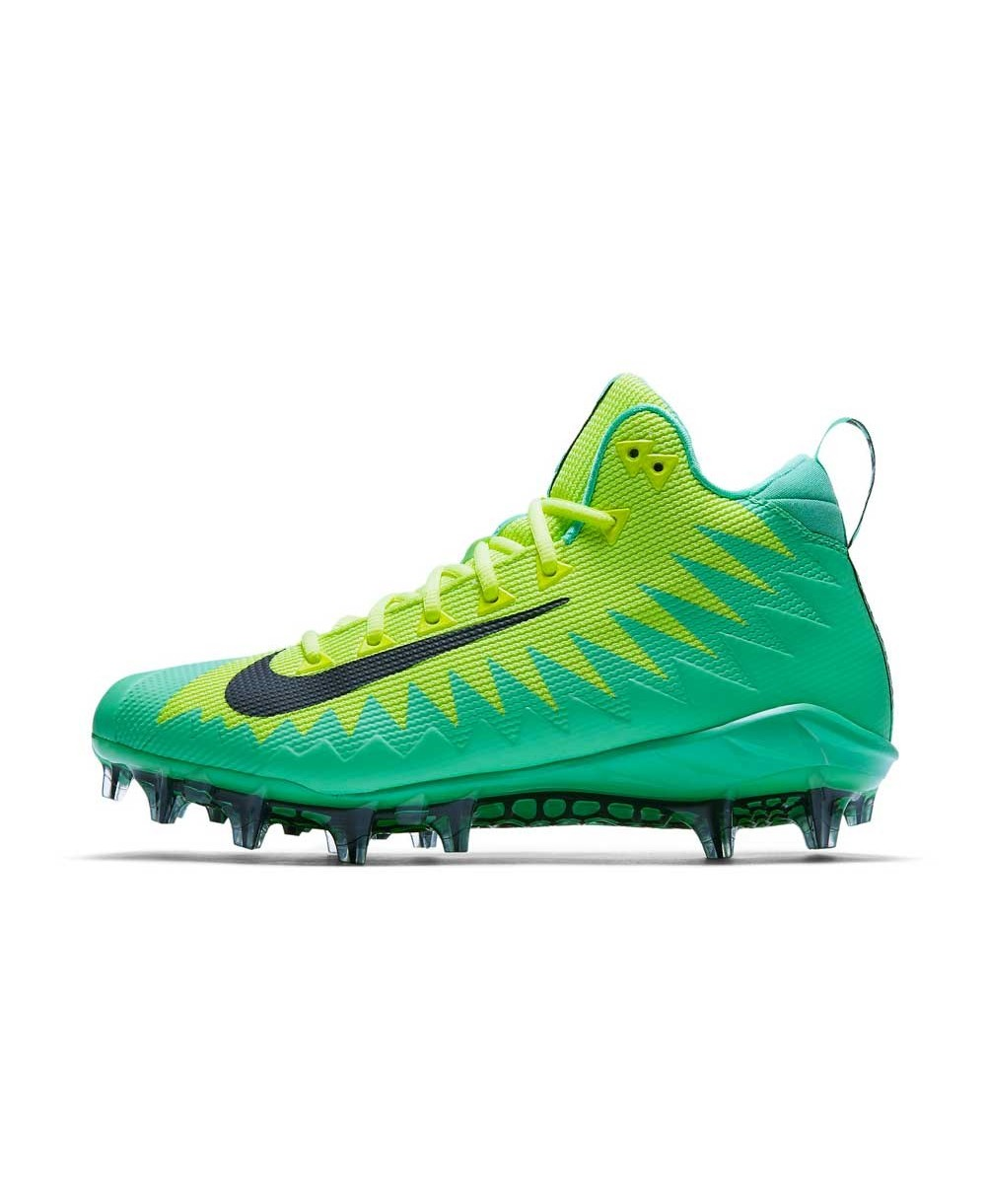 8172db4ef90 Nike Men s Alpha Menace Pro Mid American Football Cleats Electro Green