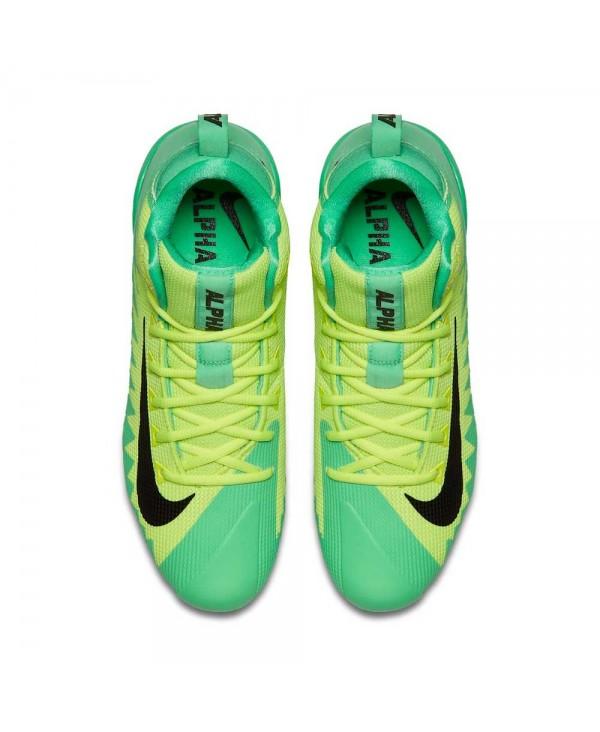 bebeea19288 Nike Men s Alpha Menace Pro Mid American Football Cleats Electro Green