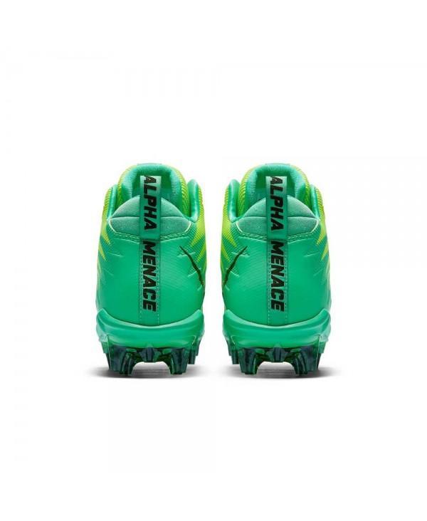 2a78f60e3 Nike Men s Alpha Menace Pro Mid American Football Cleats Electro Green