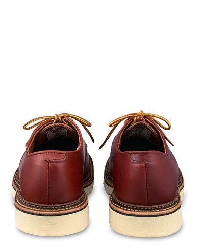 Classic Oxford Zapatos de Cordones de Cuero para Hombre Oro Russett