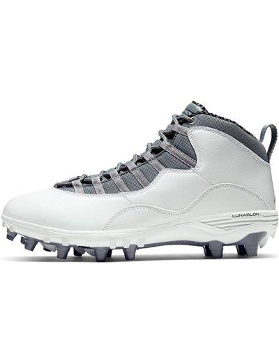 Herren Jordan 10 TD Mid American Football Shuhe White