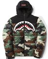 Men's Jacket Checkered Camo Puffer