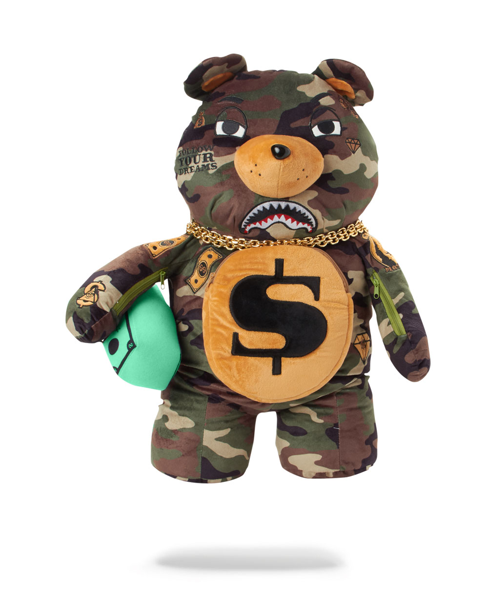 Money Bear Teddy Bear Backpack