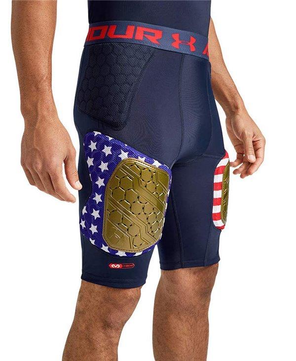 Gameday Armour Pro 5-Pad Pantalons de Football Américain Homme Navy Americana