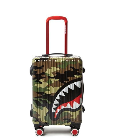 Sharknautics Carry-On Suitcase 4 Wheels Camo TSA Lock