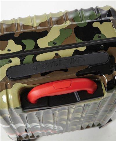 Sharknautics Carry-On Suitcase 4 Wheels Camo TSA Lock