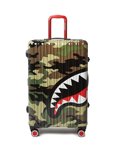 Sharknautics Full-Size Suitcase 4 Wheels Camo TSA Lock