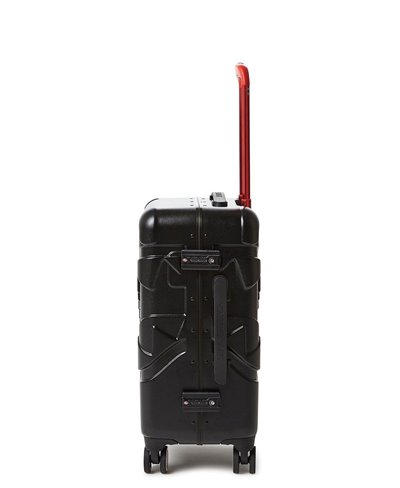 Sharkitecture Carry-On Suitcase 4 Wheels Black TSA Lock
