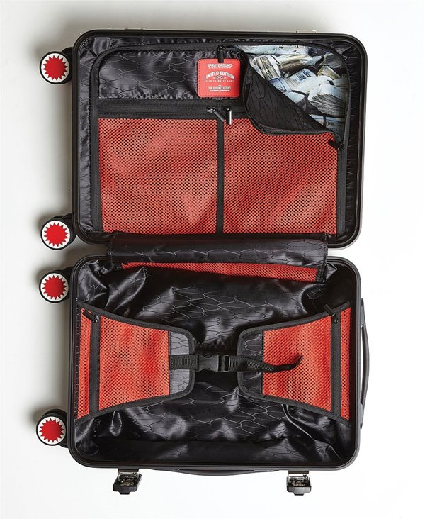 Valigia Sharkitecture Carry-On 4 Ruote Black con Lucchetto TSA