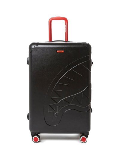 Sharkitecture Full-Size Suitcase 4 Wheels Black TSA Lock