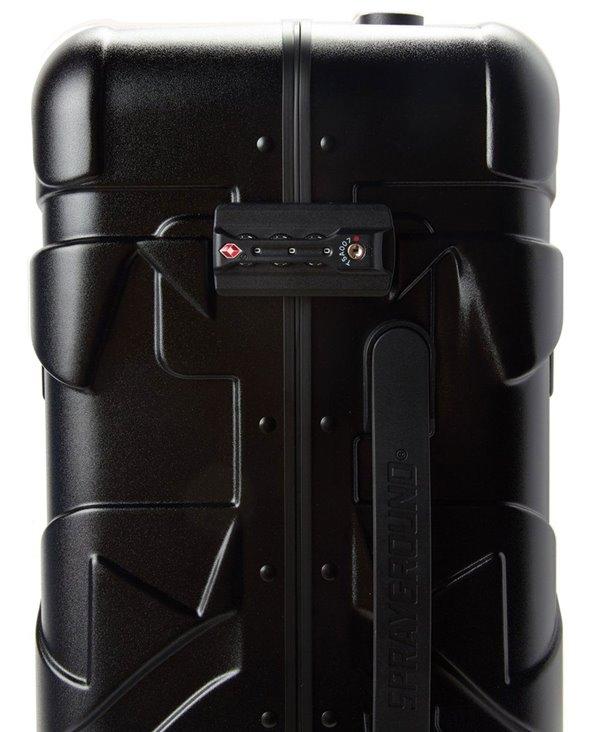 Sharkitecture Full-Size Suitcase 4 Wheels Black TSA Lock