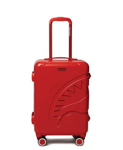 Sharkitecture Carry-On Suitcase 4 Wheels Red TSA Lock