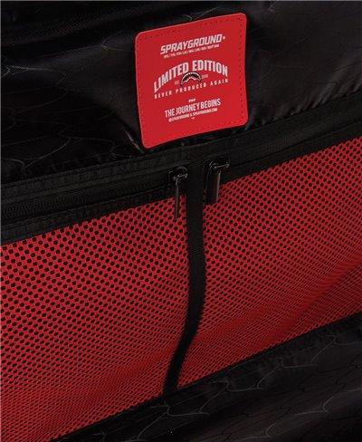 Sharkitecture Carry-On Suitcase 4 Wheels Red TSA Lock