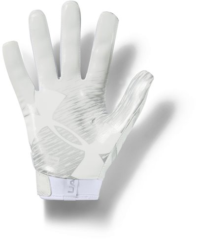 UA F7 Men's Football Gloves White/Metallic Silver