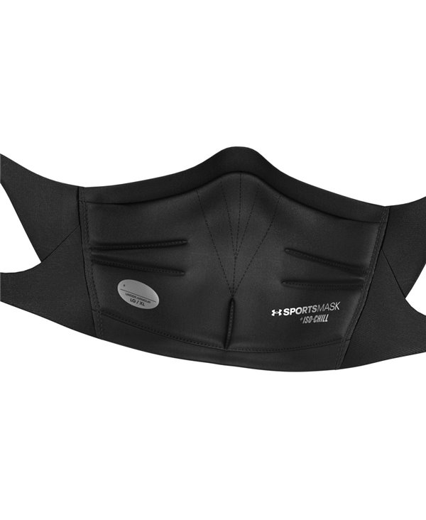 UA Sportsmask Mascherina in Tessuto Lavabile Black/Charcoal