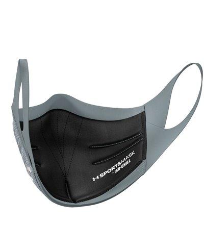 UA Sportsmask Mascherina in Tessuto Lavabile Pitch Gray/Mod Gray