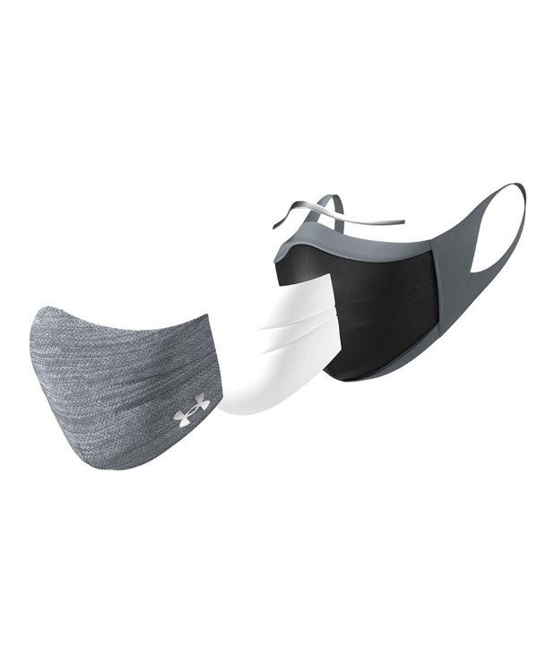 Washable Fabric Face Mask UA Sportsmask Pitch Gray/Mod Gray