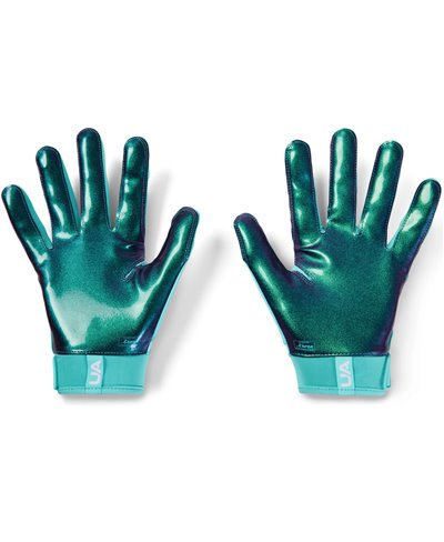 UA Spotlight LE Gants Football Américain Homme Radial Turquoise/Aqua Foam