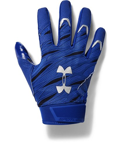 UA Spotlight Herren American Football Handschuhe Royal